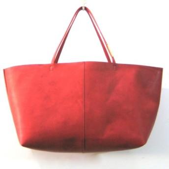 OTONA eco-bag Mサイズ red 本革製 トートバッグ