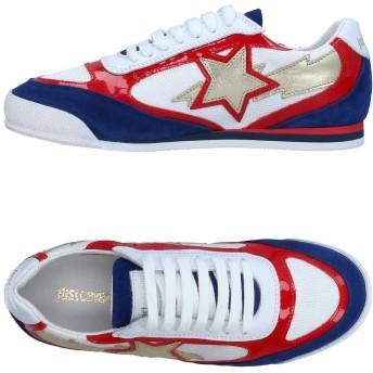 《セール開催中》JUST CAVALLI レディース スニーカー&テニスシューズ(ローカット) レッド 39 革 / 紡績繊維