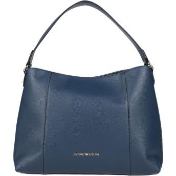 《セール開催中》EMPORIO ARMANI レディース ハンドバッグ ブルー ポリ塩化ビニル 100%
