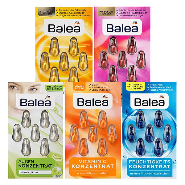 德國 Balea 時空膠囊 海藻保濕/Q10抗皺/緊緻彈潤/維C亮白/綠茶亮眼 精華安瓶 任選五入【SP嚴選家】