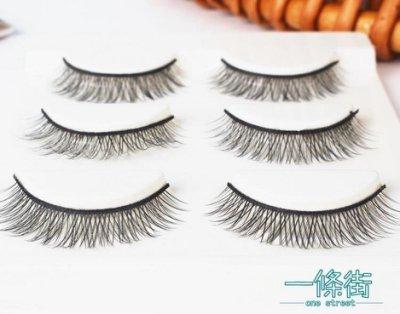3D立體假睫毛手工短款棉線軟梗眼睫毛自然逼真濃密素顏裸妝舞台裝--潮流前線