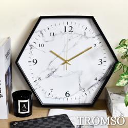 TROMSO六角大理石白靜音時鐘