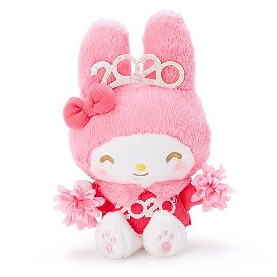 〔小禮堂〕美樂蒂 沙包絨毛玩偶娃娃《S.粉》沙包玩具.擺飾.2020花漾系列 4901610-16435