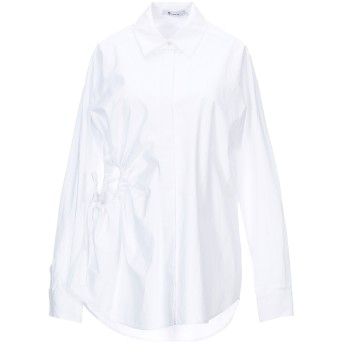 《セール開催中》ALEXANDERWANG.T レディース シャツ ホワイト 2 コットン 100%