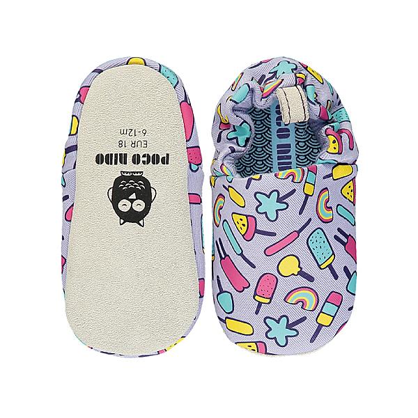 英國POCONIDO 手工鞋|嬰兒鞋|學步鞋-淡紫棒棒糖 (6~24M)