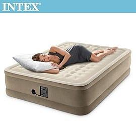 【INTEX】超厚絨豪華雙人加大充氣床-寬152cm (內建電動幫浦-fiber tech)15020022(64427)
