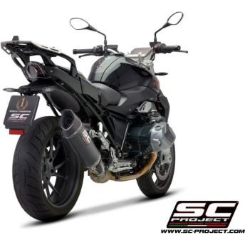 SC-PROJECT SCプロジェクト SC1-R スリップオンサイレンサー(ユーロ4対応/消音バッフル付属/純正キャタライザー対応) BMW R1250 R