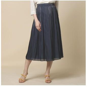 Rose Tiara/ローズティアラ 【美人百花掲載】ブライトカラースカート ダークブルー 38