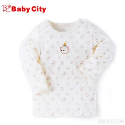 娃娃城BabyCity-有機棉長袖上衣(米白)