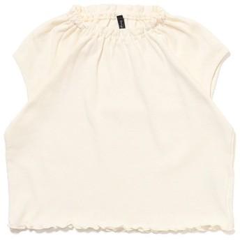 (SWAP MEET MARKET/スワップミートマーケット)フライスガールズフレンチスリーブ Tシャツ/ ホワイト