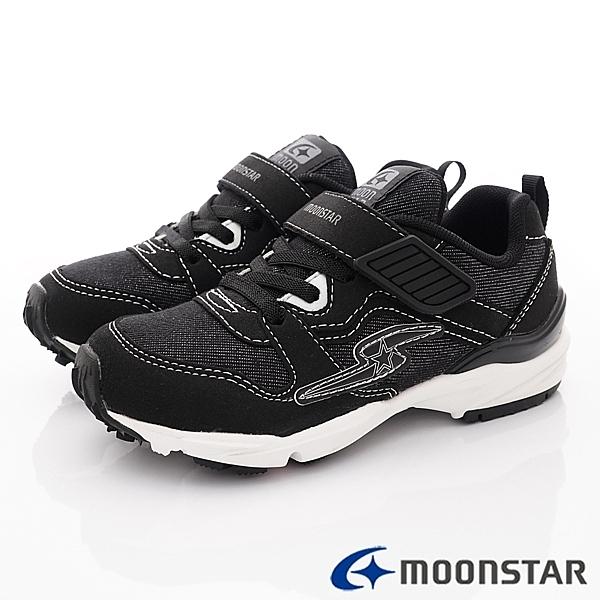日本月星Moonstar機能童鞋四大機能運動鞋款 9716黑(中大童段)