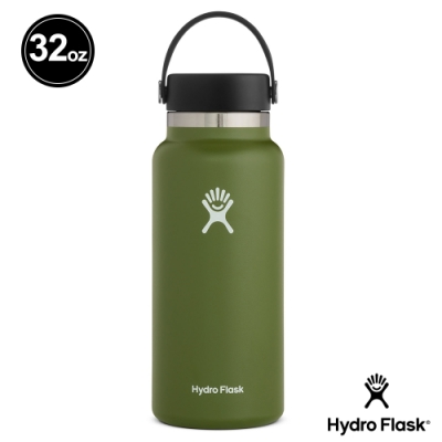 美國Hydro Flask 真空保冷/熱 寬口鋼瓶 946ml 橄欖綠