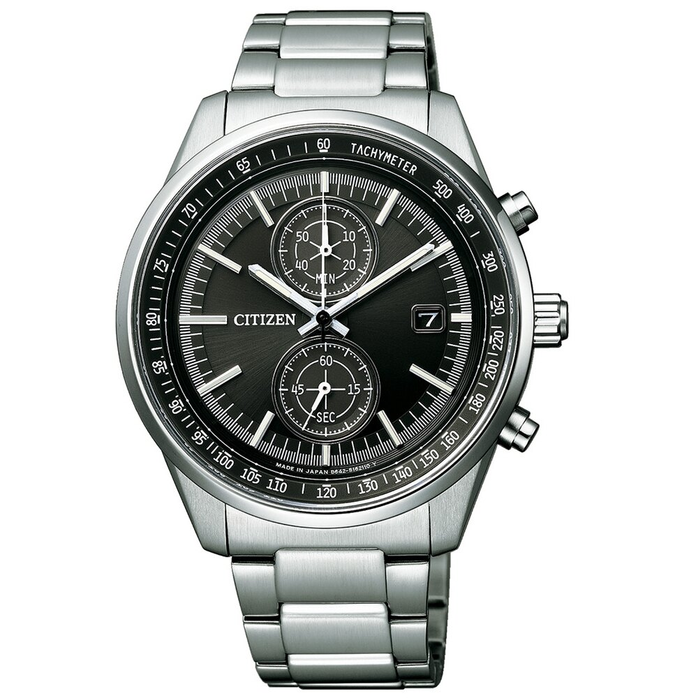 CITIZEN 紳士品格光動能計時腕錶CA7030-97E