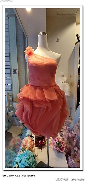 (45 Design高雄實體店面) 現貨零碼-極速出貨-特賣出清 大尺寸 小尺寸洋裝 短禮服 媽媽服伴娘 S140