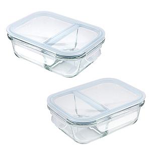 (組)微烤兩用全隔斷雙格保鮮盒-600ml+950ml