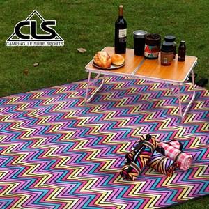 【韓國CLS】加大紫色格紋野餐墊/地墊/防潮墊/寶寶爬行/地布