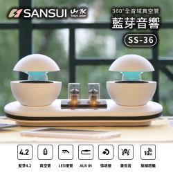 【SANSUI 山水】360°全音域真空管藍芽音響 SS-36
