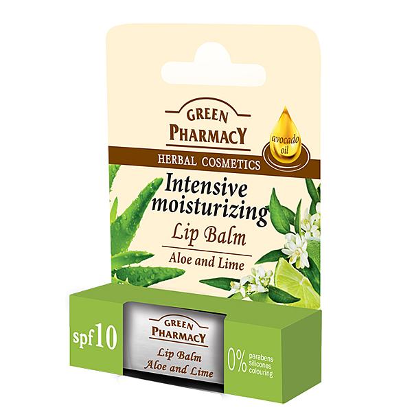 【Green Pharmacy 草本肌曜】蘆薈&萊姆保濕唇膏 3.6g