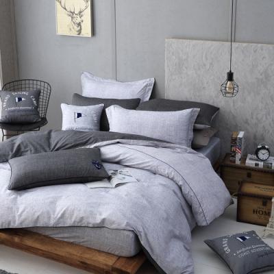 OLIVIA  LUCAS 雙色 加大雙人床包被套四件組 200織精梳純棉 台灣製