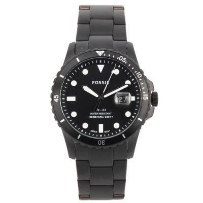 FOSSIL FB-01日期黑錶框黑色不銹鋼腕錶 42mm FS5659