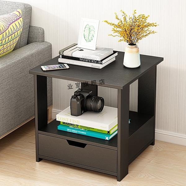 小木桌 迷你茶臺雙層木質小茶幾宿舍可移動方桌子寫字桌床桌木桌子四方桌 晶彩 晶彩