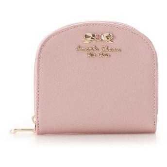 サマンサタバサプチチョイス パールエナメル ラウンドジップ折財布 ピンク