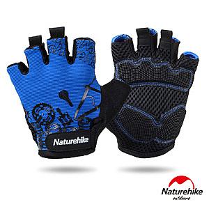 Naturehike 炫酷透氣耐磨戶外運動騎行半指手套 炫藍XL