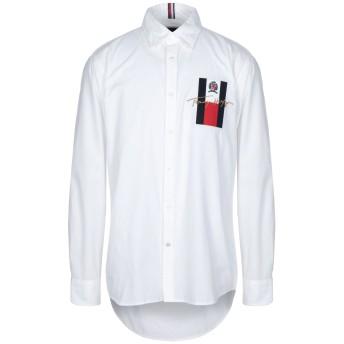 《セール開催中》HILFIGER COLLECTION メンズ シャツ ホワイト XS コットン 100%