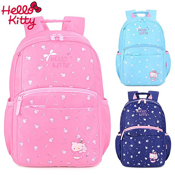 STAR BABY-三麗鷗 KITTY 凱蒂貓 輕量減負 前胸扣 後背包 學生書包 1-3年級