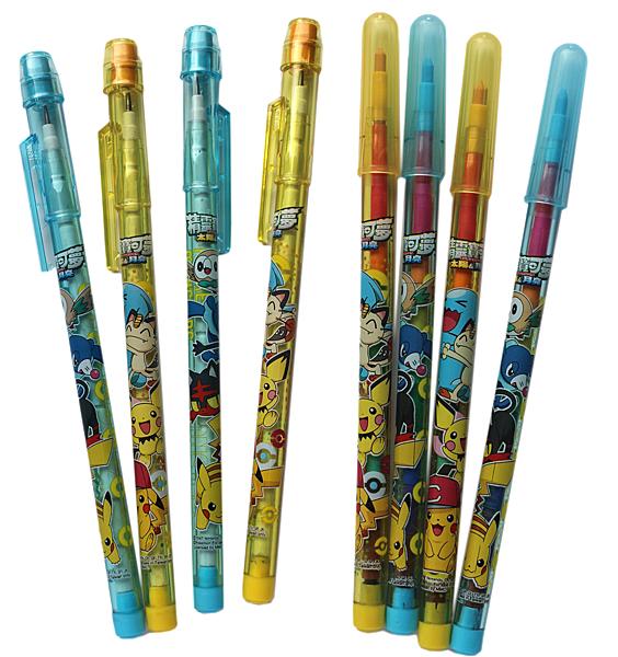 【卡漫城】 寶可夢 彩虹筆 4入 & 免削鉛筆 4入 ㊣版 Pokemon 神奇寶貝 皮卡丘 精靈 鉛筆 文具 圖畫筆