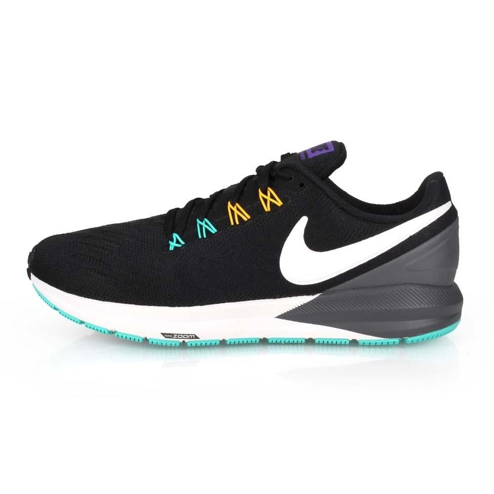 NIKE 耐吉 AIR ZOOM STRUCTURE 22 男慢跑鞋 黑白