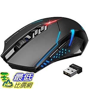[9美國直購] 滑鼠 VicTsing Wireless Gaming Mouse with Unique Silent Click, Breathing Backlit, 2 Programmabl
