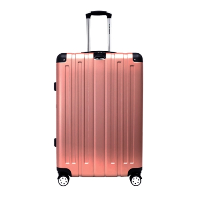 RAIN DEER 克萊爾28吋ABS鑽石紋防刮行李箱-玫瑰金