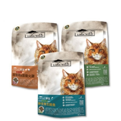 紐西蘭Livin Wild野宴-全齡貓野生無榖配方-4磅/1.81公斤 兩包組