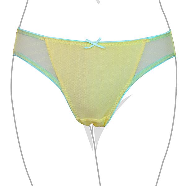 EASY SHOP-美型愛混搭 中低腰三角褲(檸檬黃)