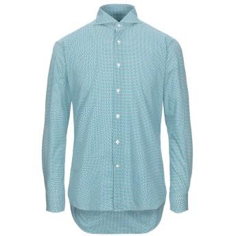 《セール開催中》BAGUTTA メンズ シャツ ターコイズブルー 39 コットン 100%