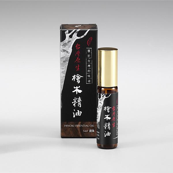 【檜山坊】頂級台灣原生檜木精油5ml (滾珠)