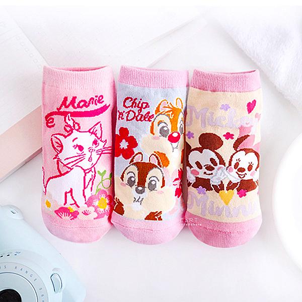 迪士尼櫻花系直版親子襪-米老鼠系列 襪子 童襪 短筒襪