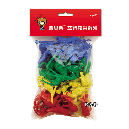 《 USL遊思樂教具 》動物模型(軟質,4色,40pcs) / JOYBUS玩具百貨