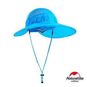Naturehike 戶外百搭高防曬大帽簷輕巧可折疊遮陽帽 圓盤帽 藍色