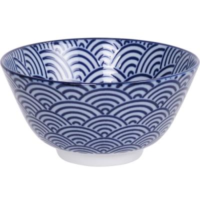 《Tokyo Design》瓷製餐碗(浪紋藍12cm)