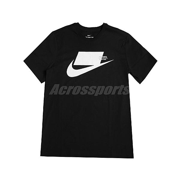Nike 短袖T恤 NSW Tee 黑 白 男款 短T 運動休閒 【ACS】 CK2227-010