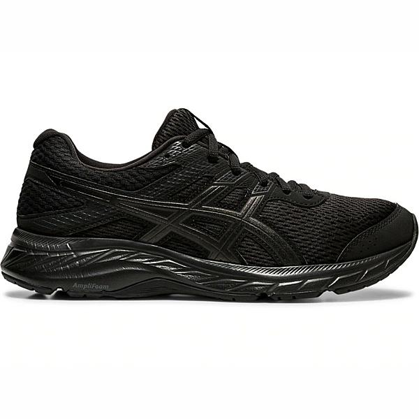 ASICS Gel-contend 6寬楦女款全黑慢跑鞋-NO.1012A571-002