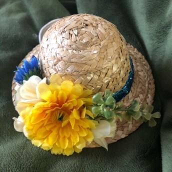 麦わら帽子 ペット用帽子