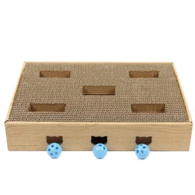 MDOBI摩多比-貓丸家 貓咪紙抓尋寶盒C款(迷宮造型盒)
