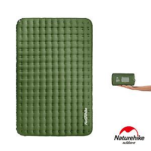 Naturehike 舒適雙人輕量加厚加寬TPU充氣睡墊 森林綠
