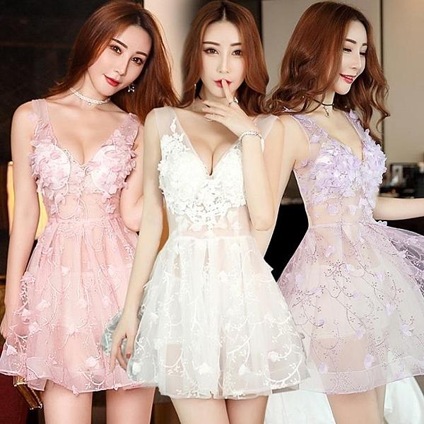 洋裝   小禮服 夜場性感女裝夜店網紗透視蓬蓬連身裙顯瘦