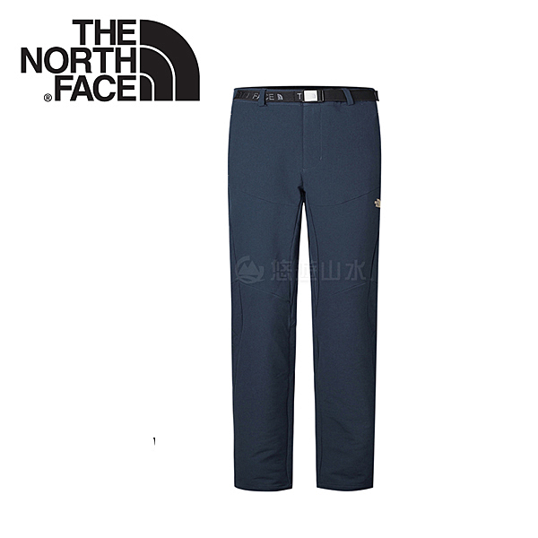 【The North Face 男款 彈性防潑保暖長褲《藍色》】366EH2G/秋冬款/防潑/保暖長褲/休閒長褲