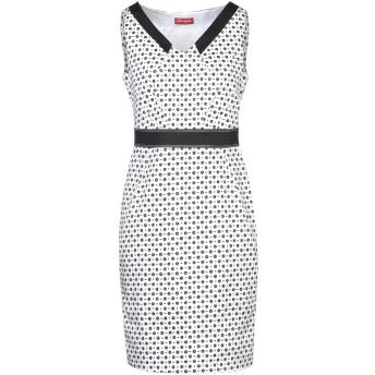 《セール開催中》DIANA GALLESI レディース ミニワンピース&ドレス ホワイト 42 コットン 97% / ポリウレタン 3%
