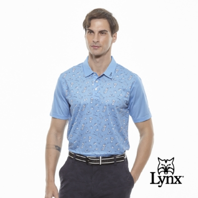 Lynx Golf Mesh高爾夫印花短袖